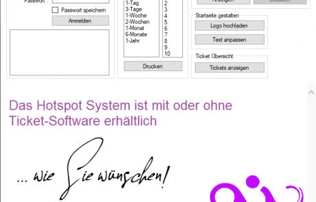 Ticketsystem Software WLAN Hotspot