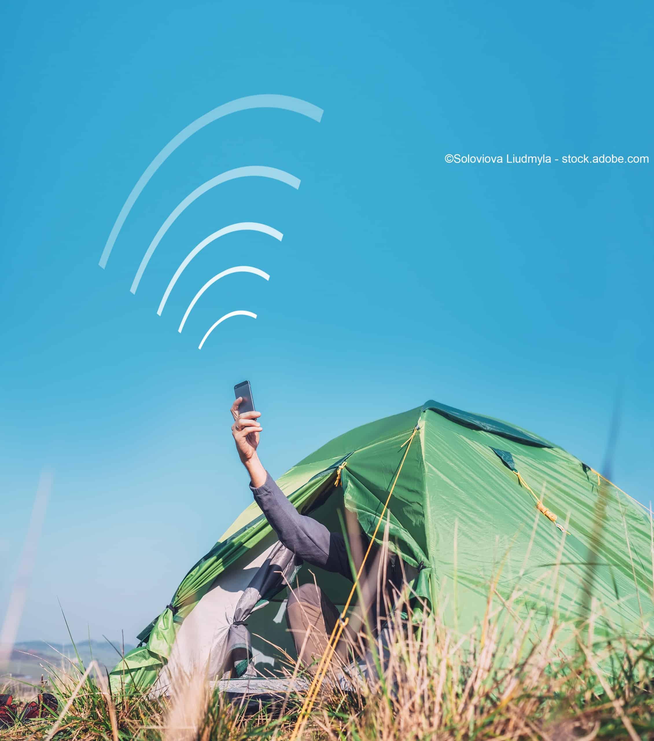 wlan hotspot campingplatz zelt