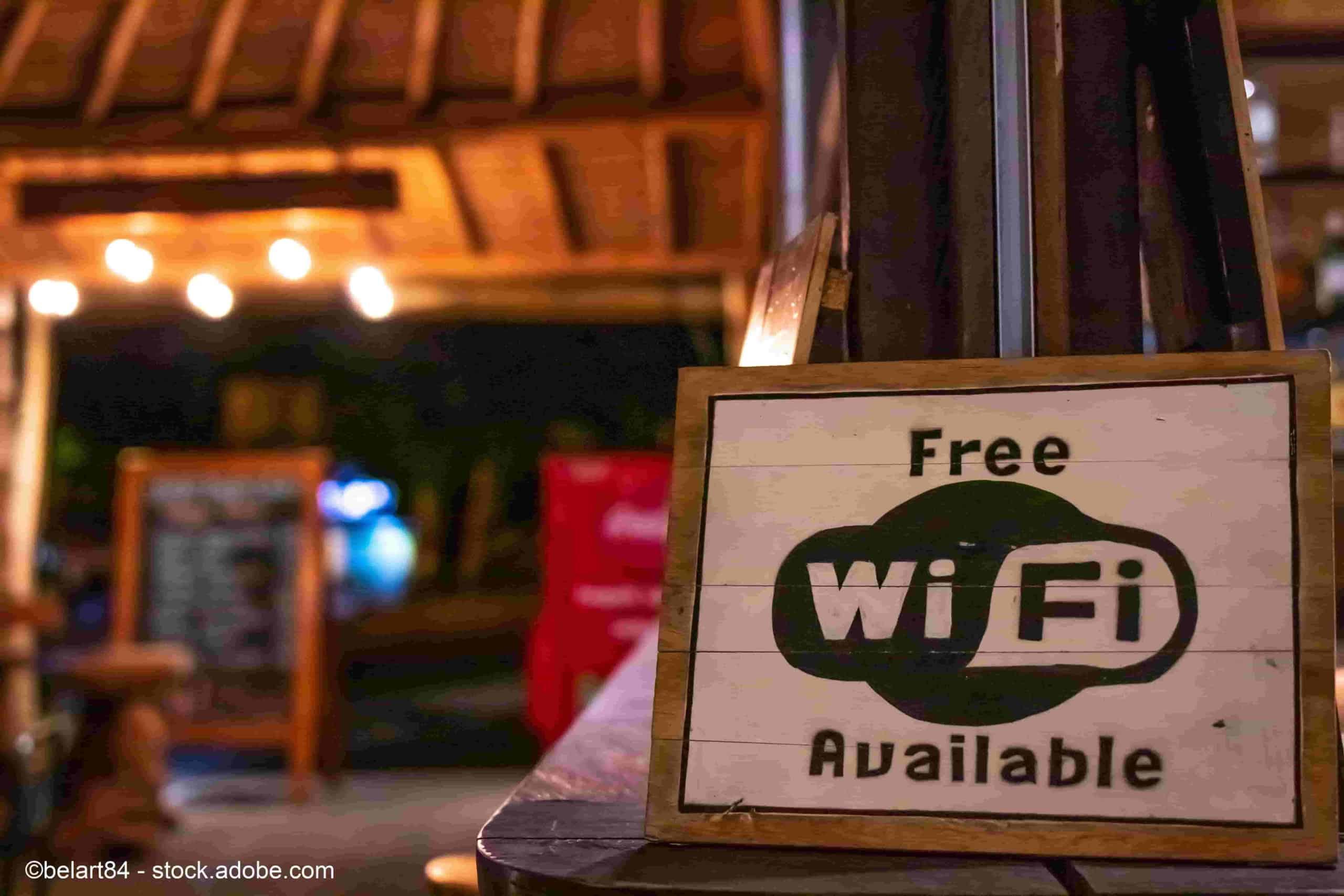 wlan hotspot café bar einrichten verstärken wifi