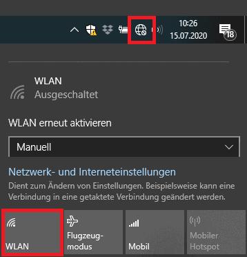 Hardware Buttons Ist Ihr WLAN aktiviert WLAN funktioniert nicht